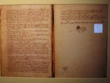 Diário de Andrés de Urdaneta, onde conta as aventuras do galego Gonzalo De Vigo.